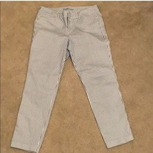Old Navy Pixie Trousers - Blue and White Stripes